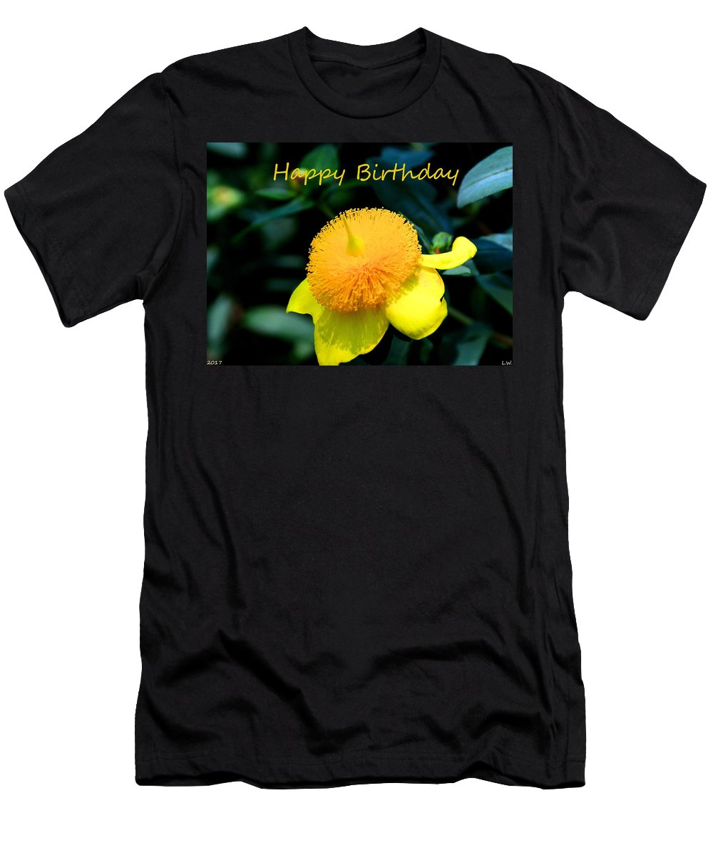 Golden Guinea Happy Birthday Men's T-Shirt (Athletic Fit) featuring the photograph Golden Guinea Happy Birthday by Lisa Wooten