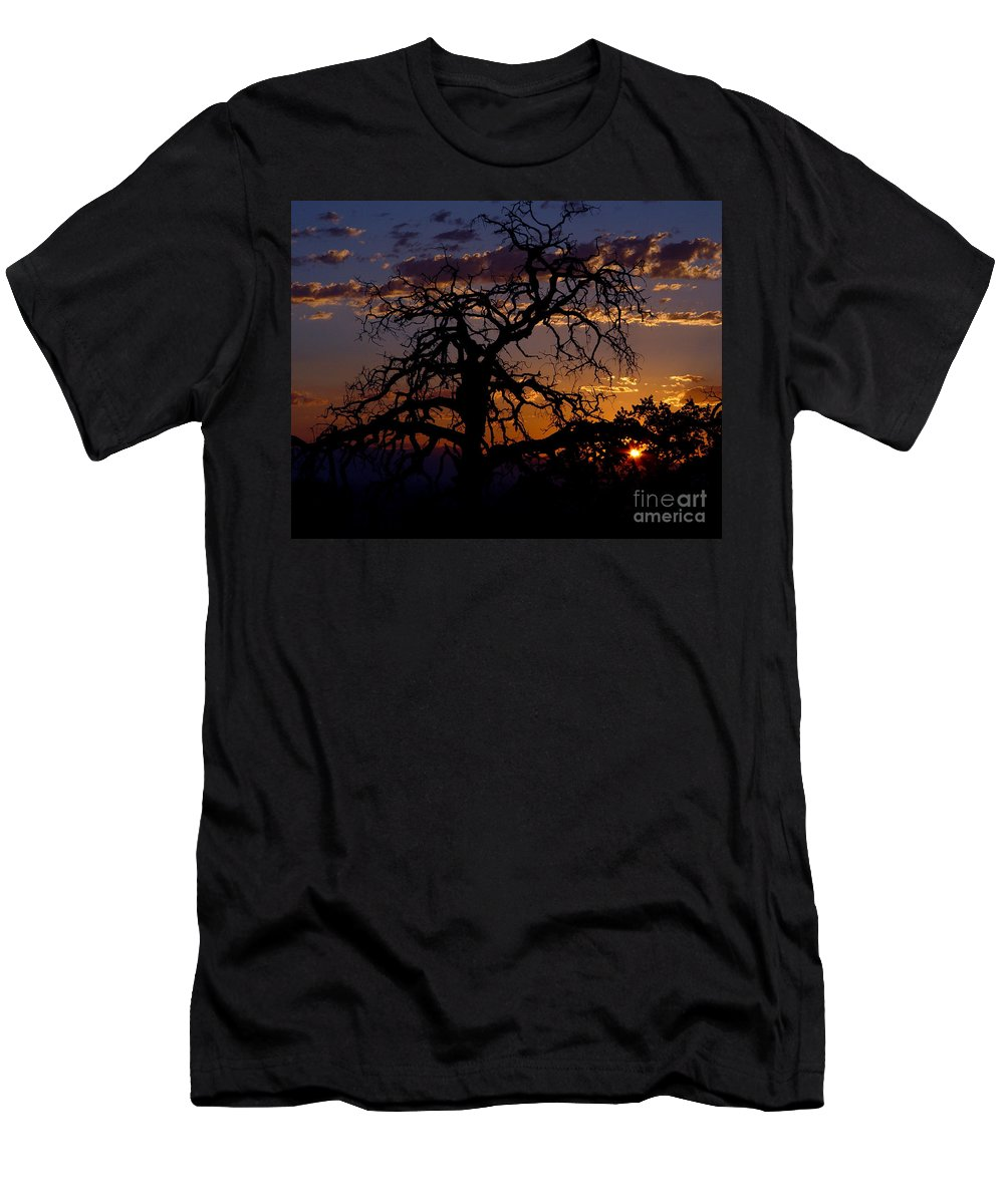 Sunset Men's T-Shirt (Athletic Fit) featuring the photograph Golden Hour by Peter Piatt