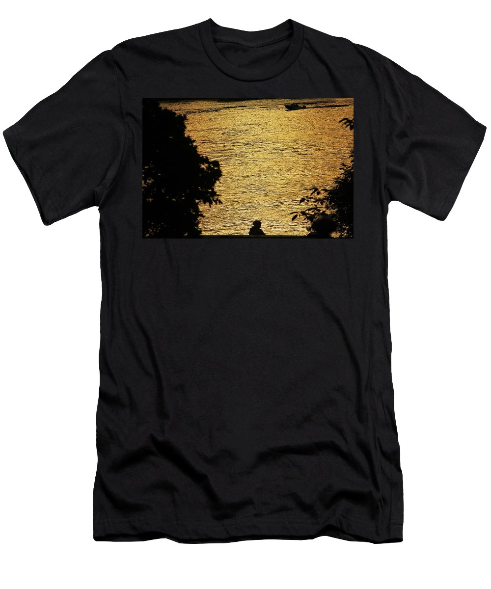 Men's T-Shirt (Athletic Fit) featuring the photograph Golden River by Yulia Solovyova