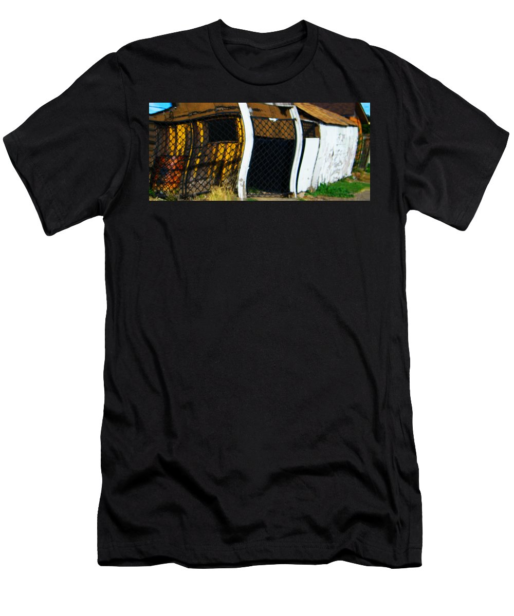 Abstract Men's T-Shirt (Athletic Fit) featuring the digital art Golden Shed by Lenore Senior