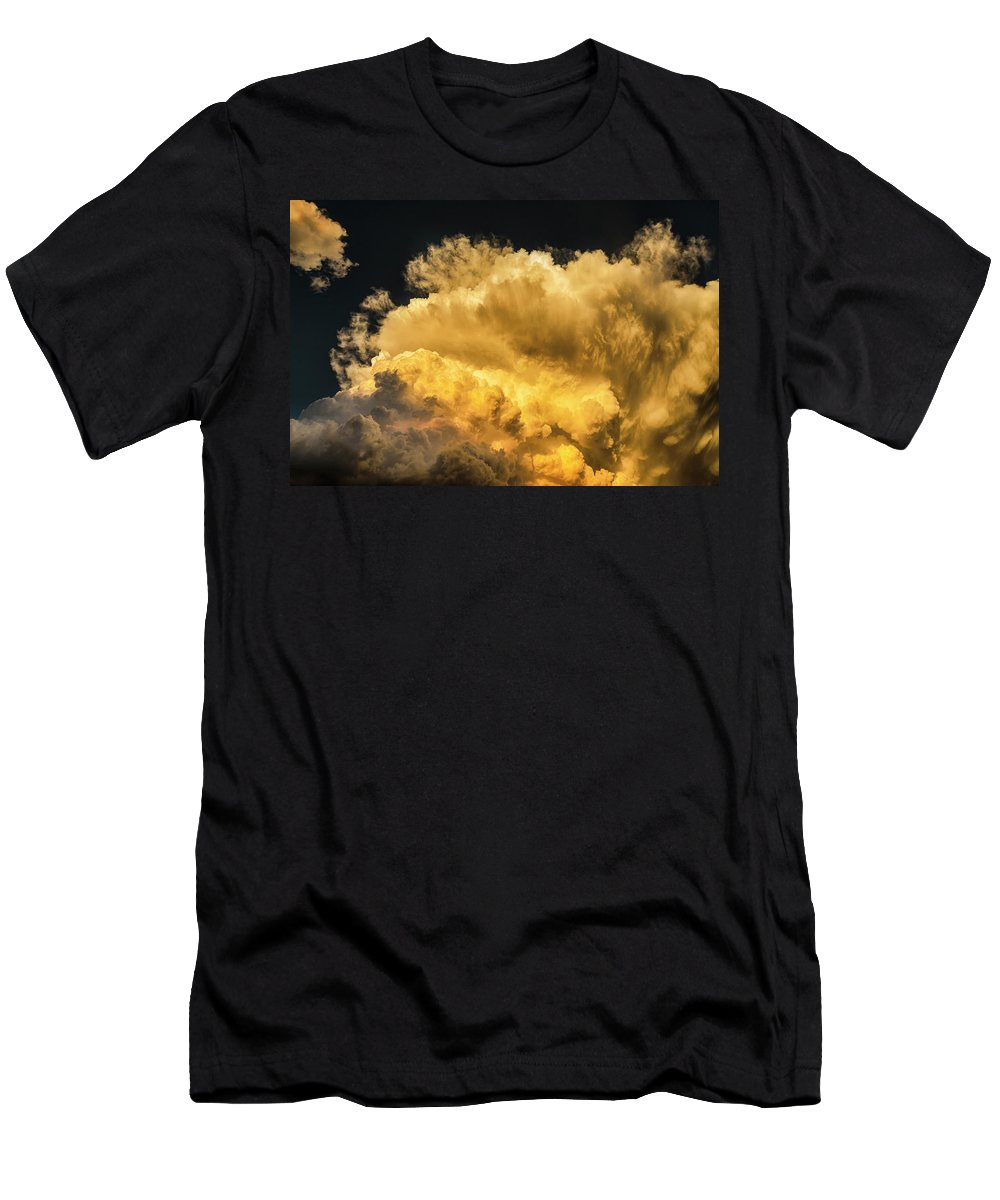 Cumulus Men's T-Shirt (Athletic Fit) featuring the photograph Golden Thunderhead by James BO Insogna