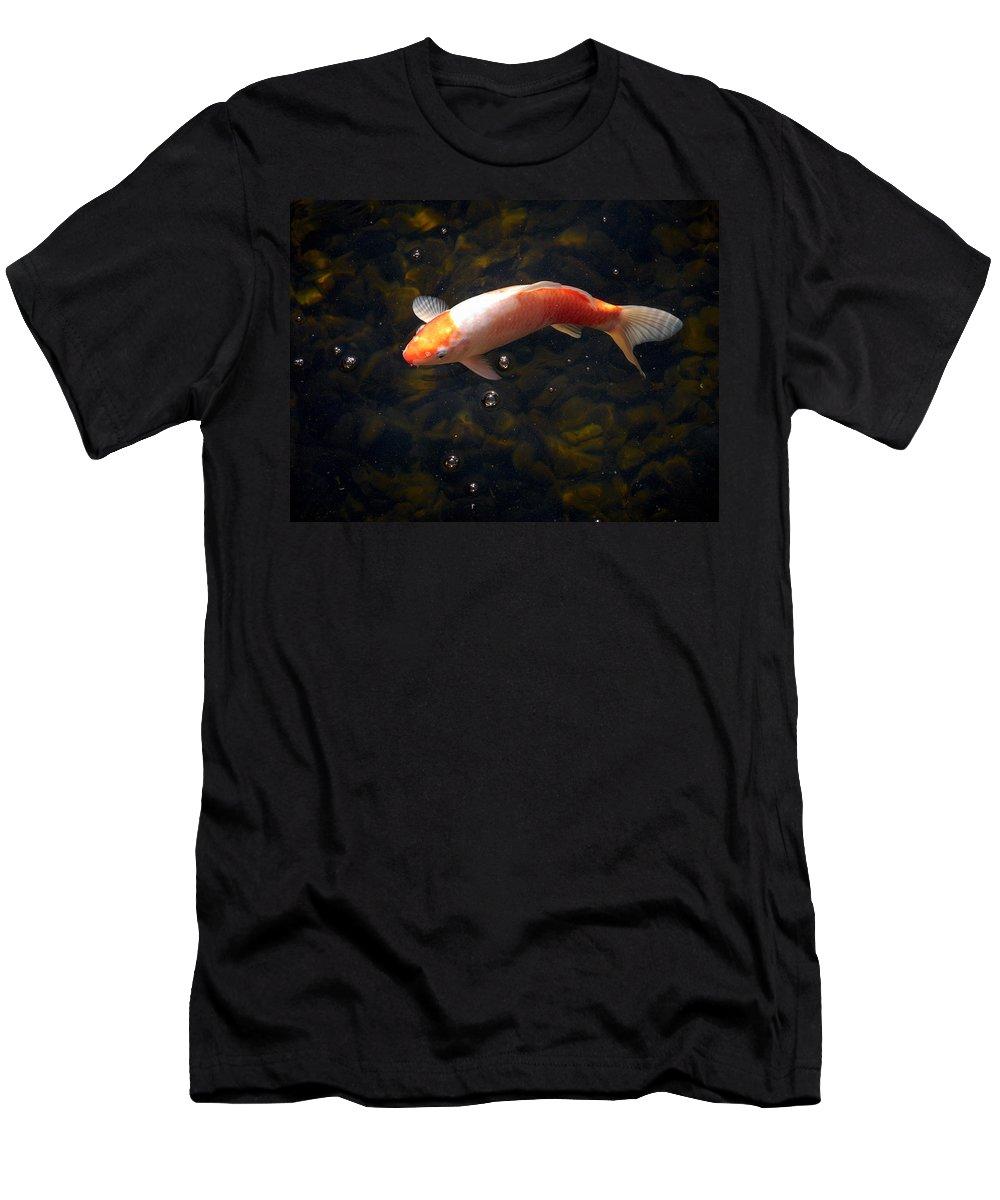 Loro Park Men's T-Shirt (Athletic Fit) featuring the photograph Goldfish by Jouko Lehto