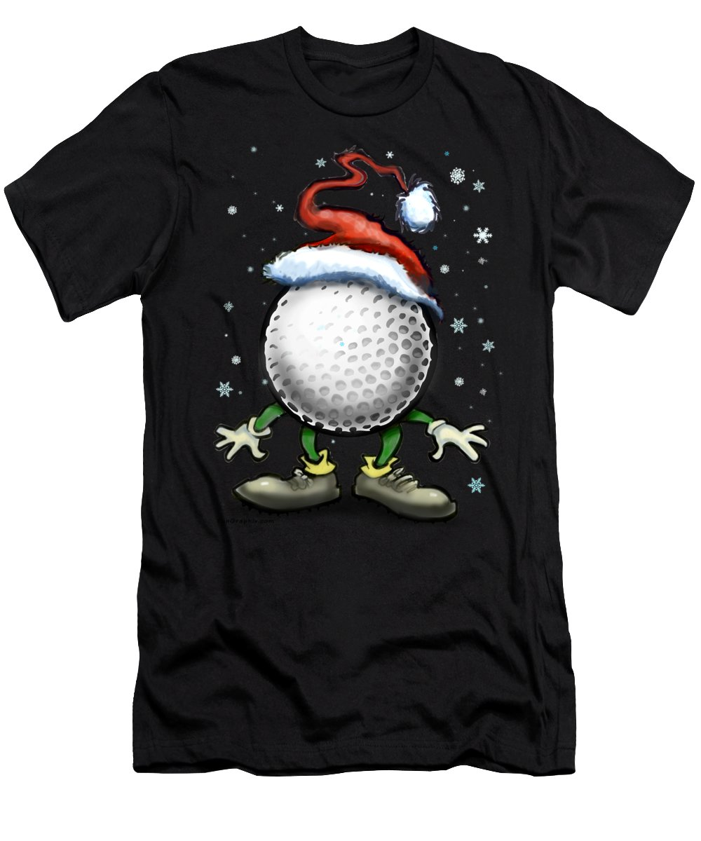 Golf Men's T-Shirt (Athletic Fit) featuring the digital art Golf Christmas by Kevin Middleton