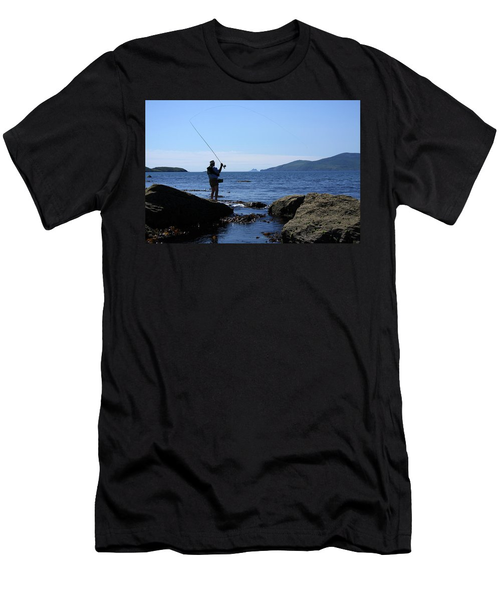 Fishing Men's T-Shirt (Athletic Fit) featuring the photograph Gone Fishing by Aidan Moran