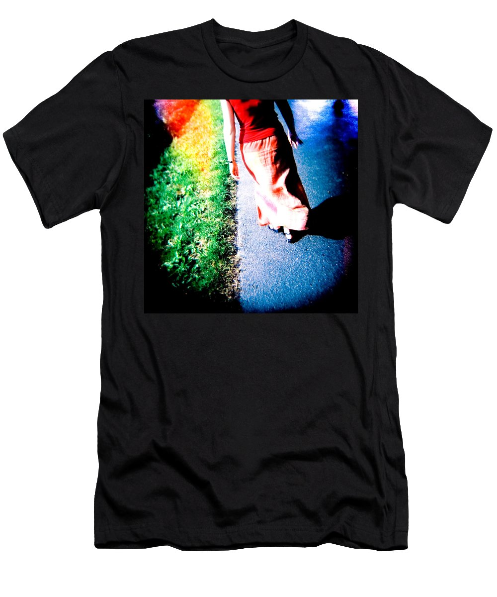 Color Photograph Holga Men's T-Shirt (Athletic Fit) featuring the photograph Gone by Olivier De Rycke