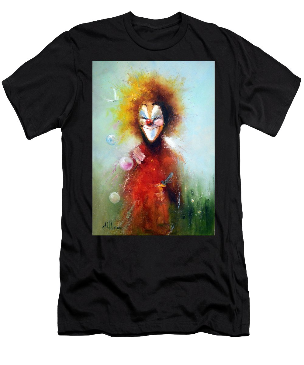 Good Men's T-Shirt (Athletic Fit) featuring the painting Good Mood by Igor Medvedev