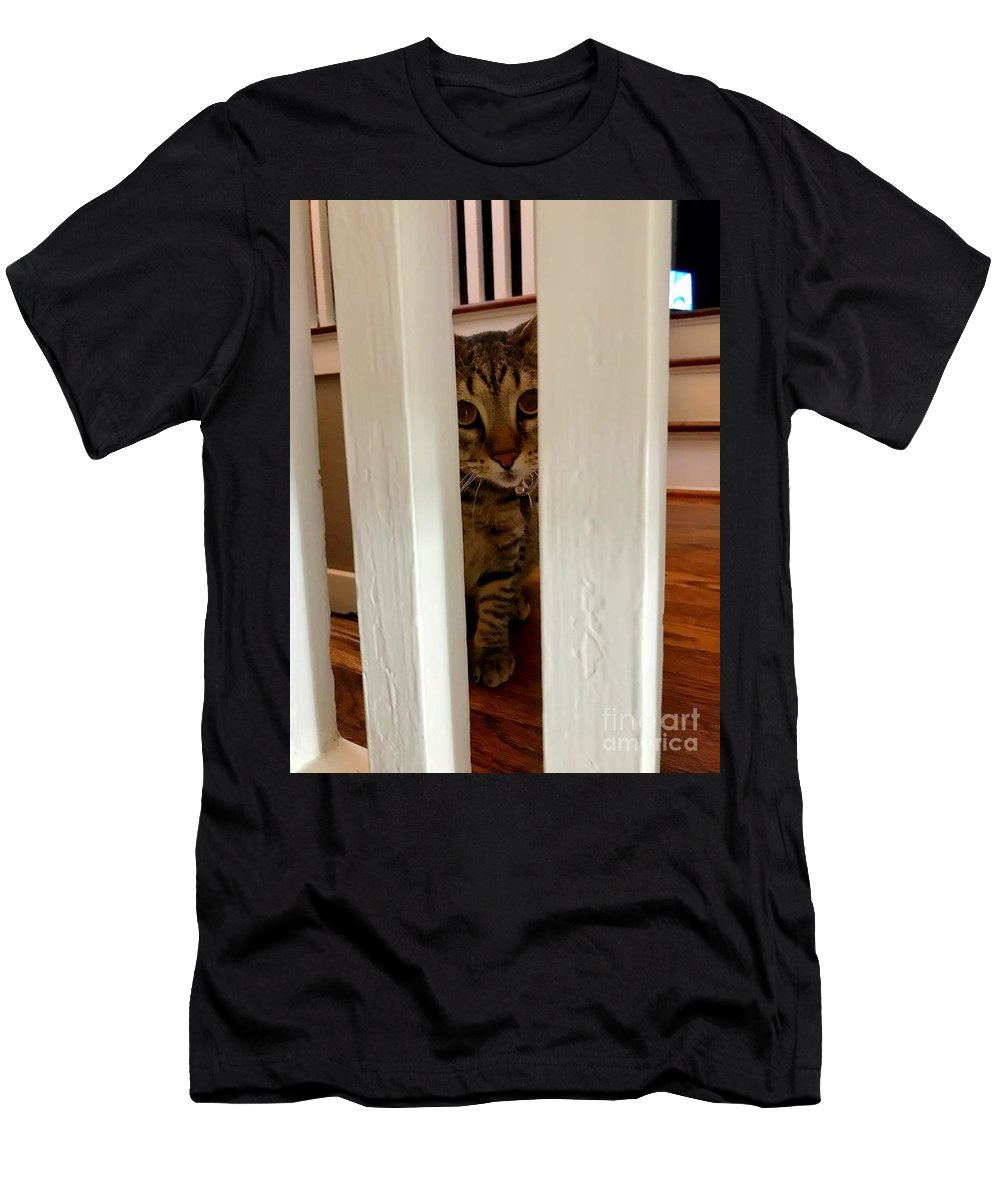 Tabby Men's T-Shirt (Athletic Fit) featuring the photograph Goodbye Dom by John W Smith III