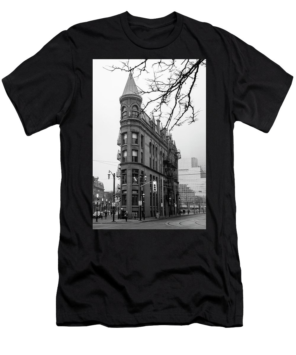 Toronto Men's T-Shirt (Athletic Fit) featuring the photograph Gooderham Flatiron Building, Toronto by Rick Shea