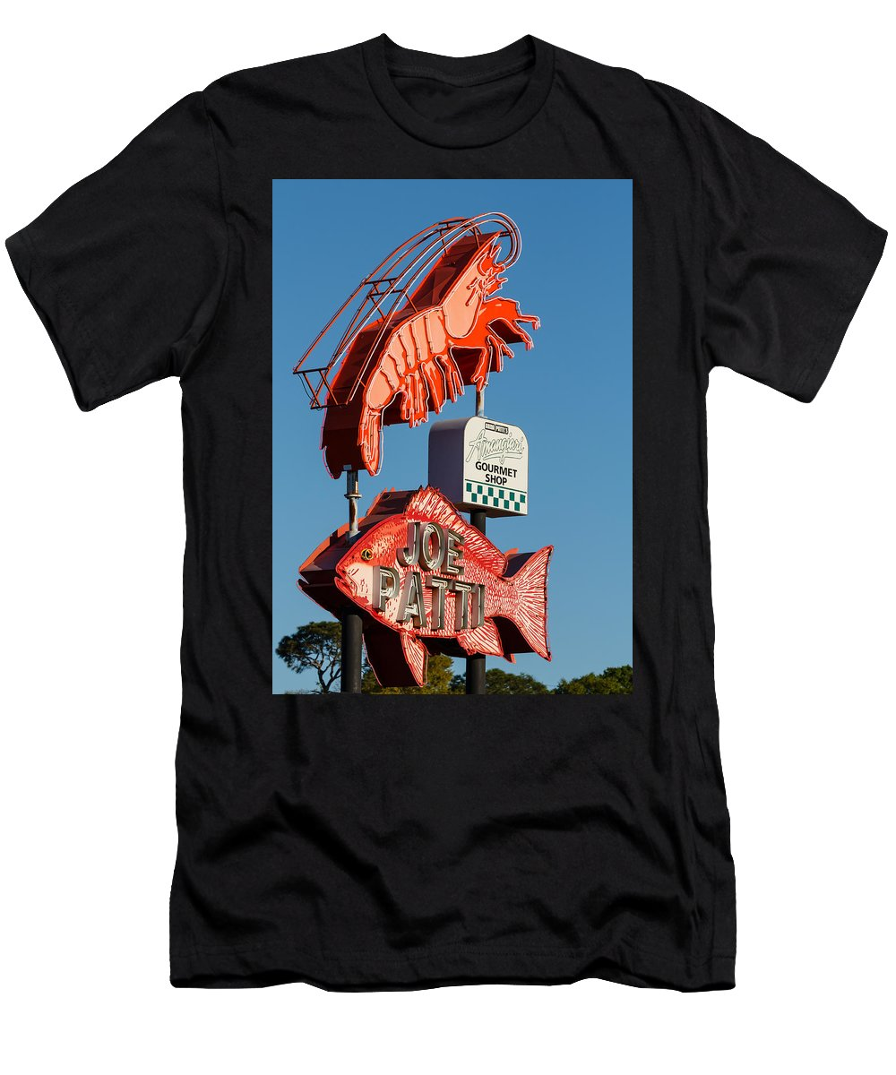 Pensacola Men's T-Shirt (Athletic Fit) featuring the photograph Got Shrimp 3 by Gary Oliver