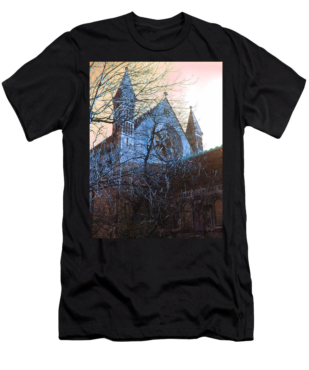 Scotland Men's T-Shirt (Athletic Fit) featuring the photograph Gothic Church by Heather Lennox