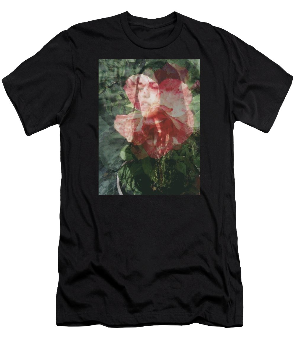 Gothic Flower Rose Fairy Tale Men's T-Shirt (Athletic Fit) featuring the photograph Gothic Flower by Jennifer Battles