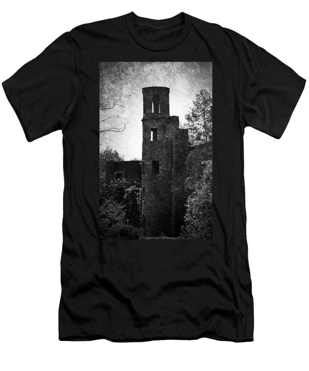 Irish Men's T-Shirt (Athletic Fit) featuring the photograph Gothic Tower At Blarney Castle Ireland by Teresa Mucha