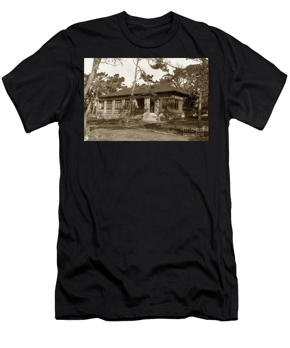 Asilomar Men's T-Shirt (Athletic Fit) featuring the photograph Grace H Dodge Chapel Auditorium Asilomar Circa 1925 by California Views Archives Mr Pat Hathaway Archives