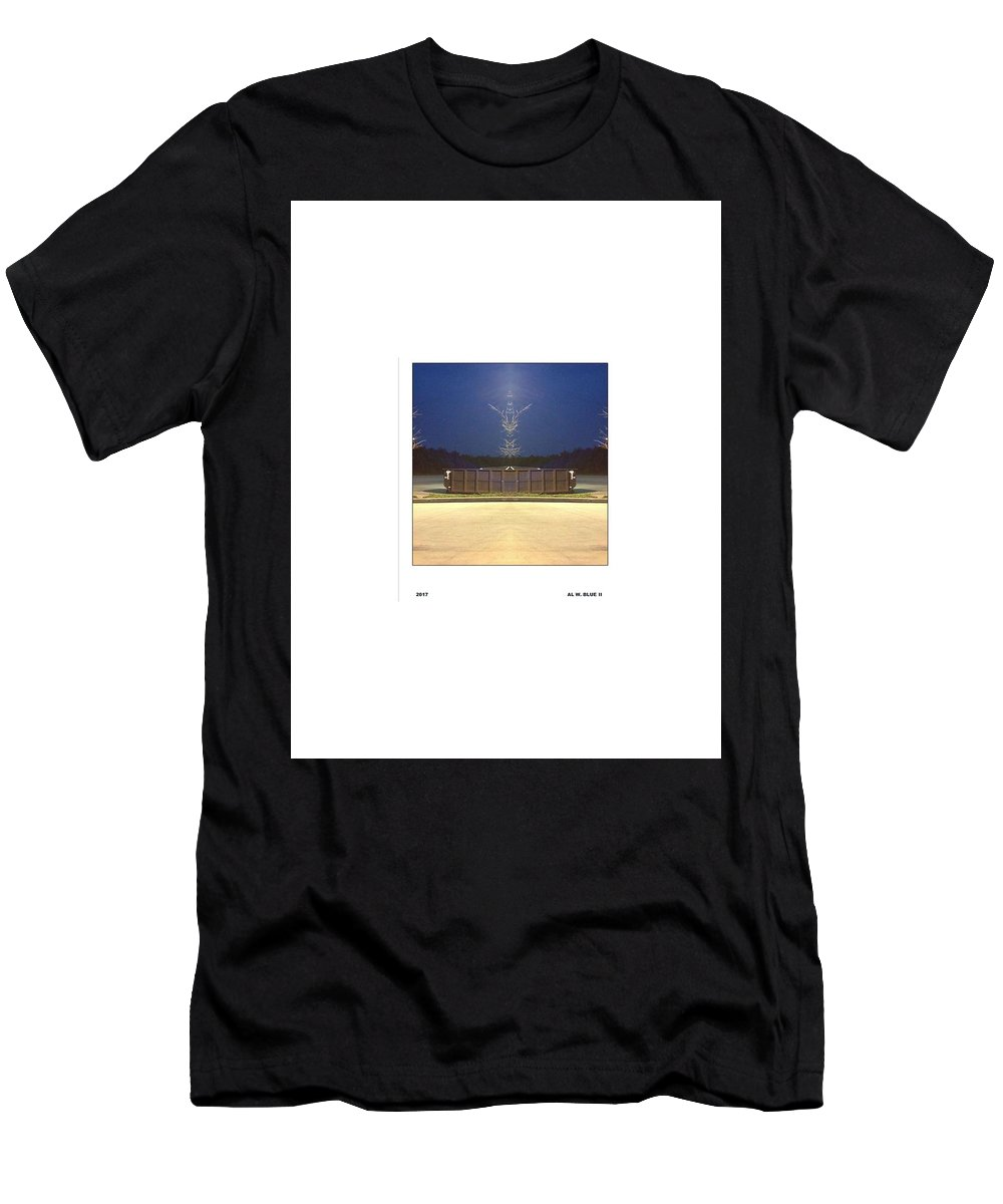 Very Surreal Looking Dumpster Men's T-Shirt (Athletic Fit) featuring the photograph Graceful Dumpster by Al Blue