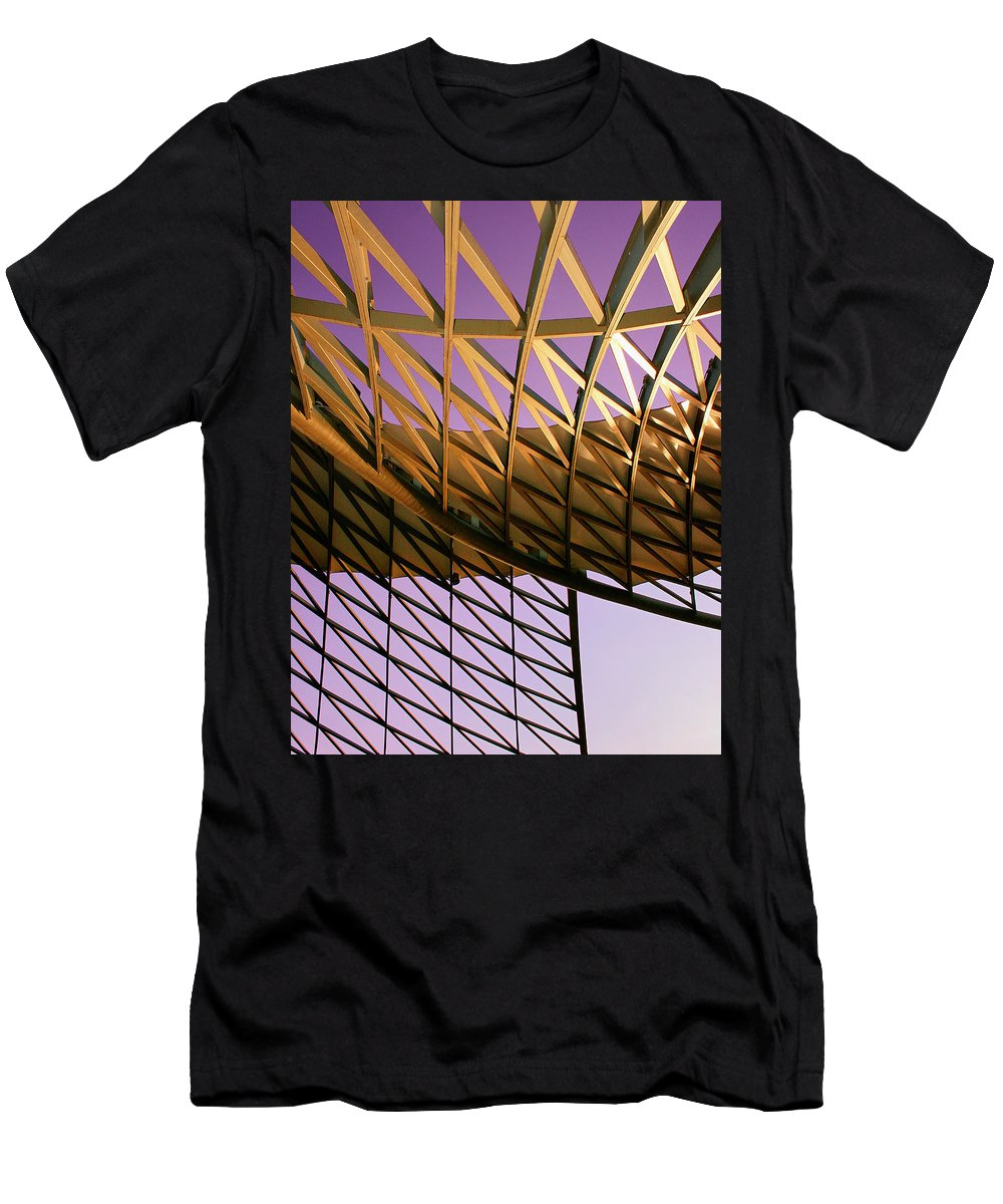Industrial Desert Men's T-Shirt (Athletic Fit) featuring the photograph Graceful Grid by William Dey