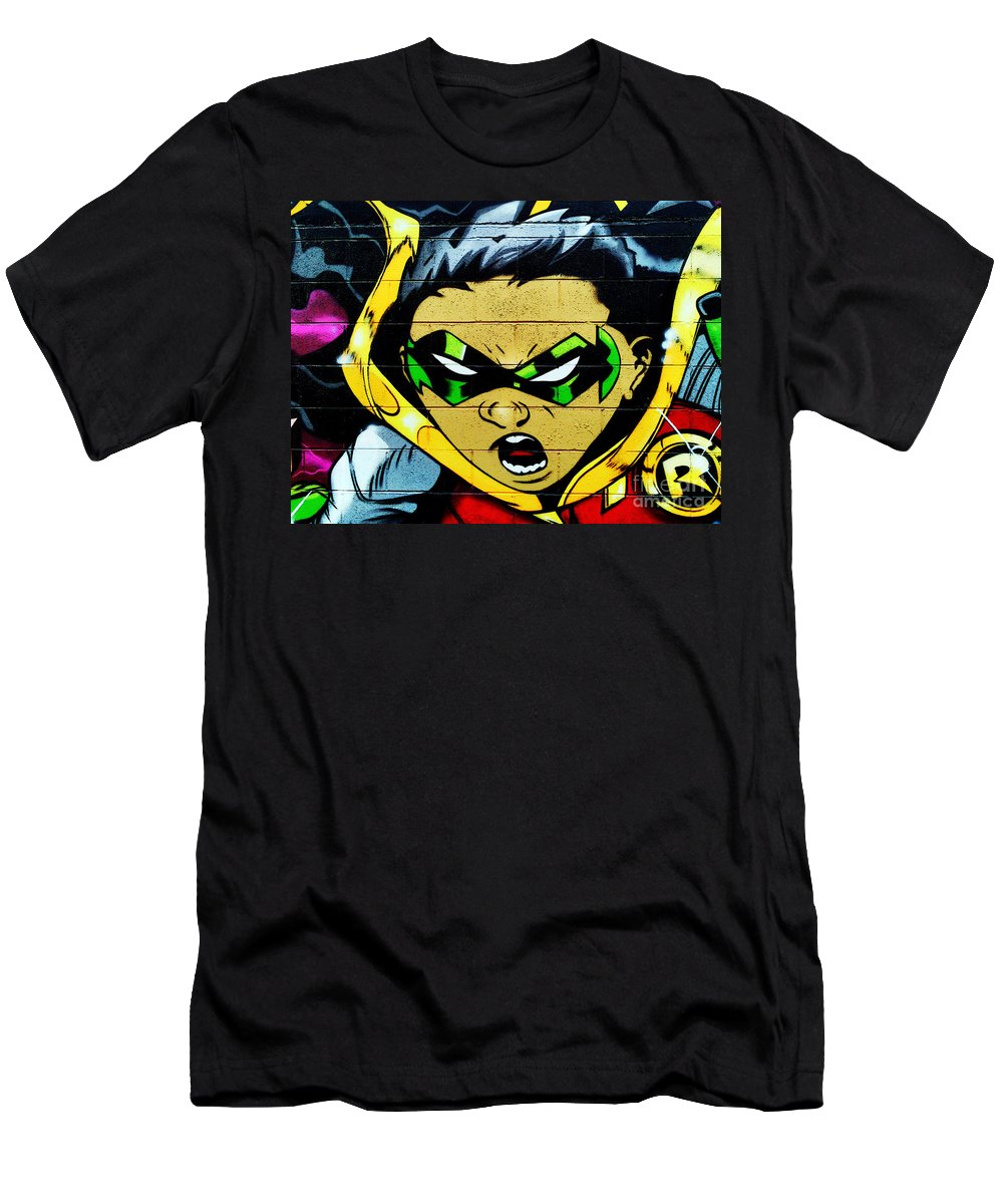 Graffiti Men's T-Shirt (Athletic Fit) featuring the photograph Graffiti 7 by Ben Yassa