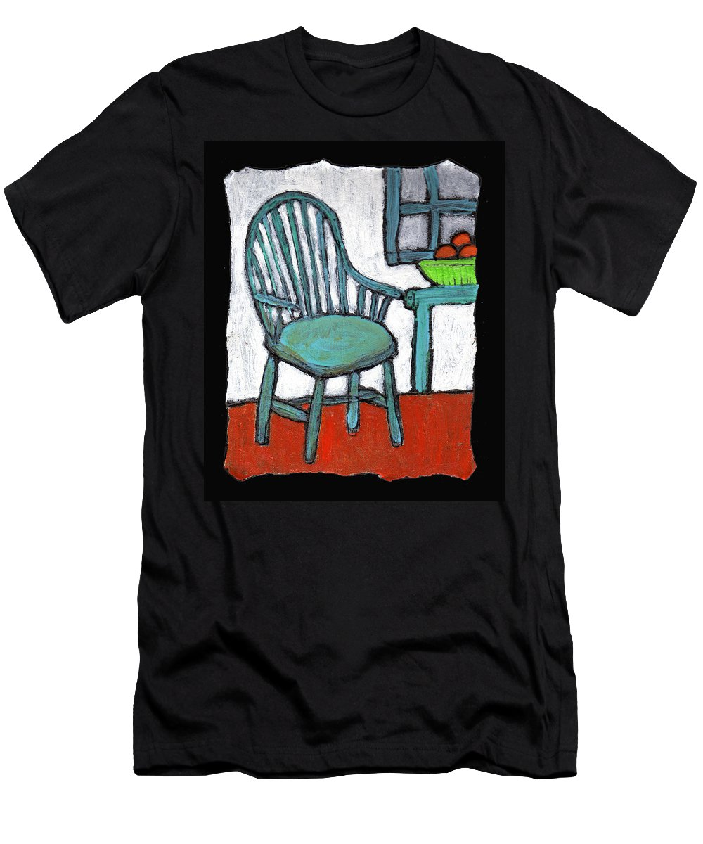 Chair Men's T-Shirt (Athletic Fit) featuring the painting Grampa's Empty Chair by Wayne Potrafka