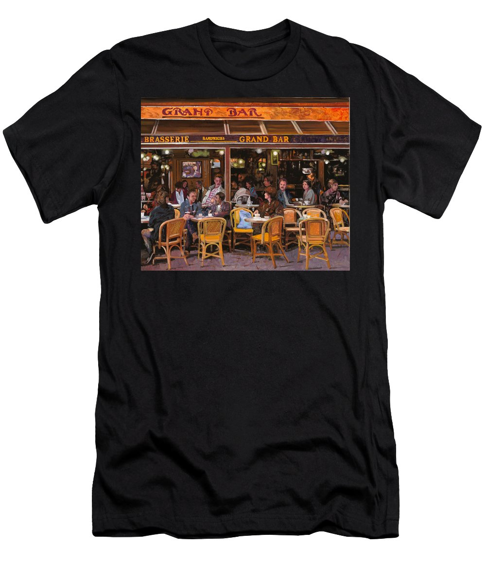 Brasserie Men's T-Shirt (Athletic Fit) featuring the painting Grand Bar by Guido Borelli