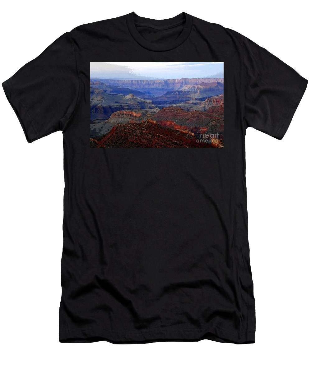 Art Men's T-Shirt (Athletic Fit) featuring the digital art Grand Canyon Arizona by David Lee Thompson
