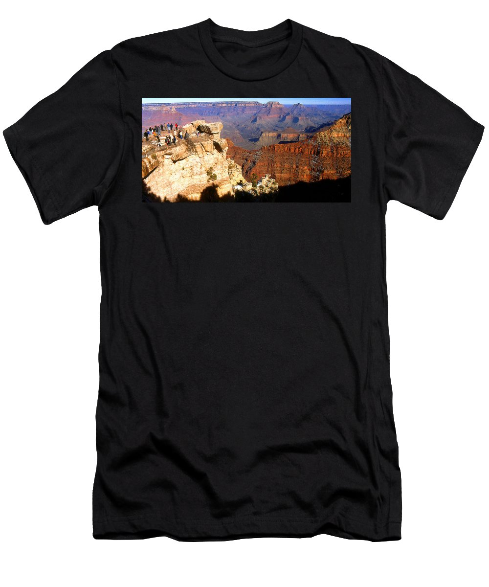 Grand+canyon Men's T-Shirt (Athletic Fit) featuring the photograph Grand Canyon National Park Arizona Panorama by Peter Potter