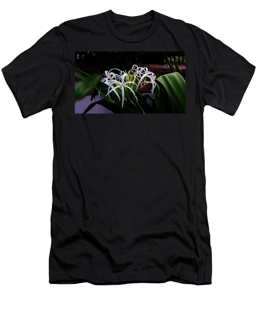 Lily Men's T-Shirt (Athletic Fit) featuring the photograph Grand Crinum Lily by Nick Photography