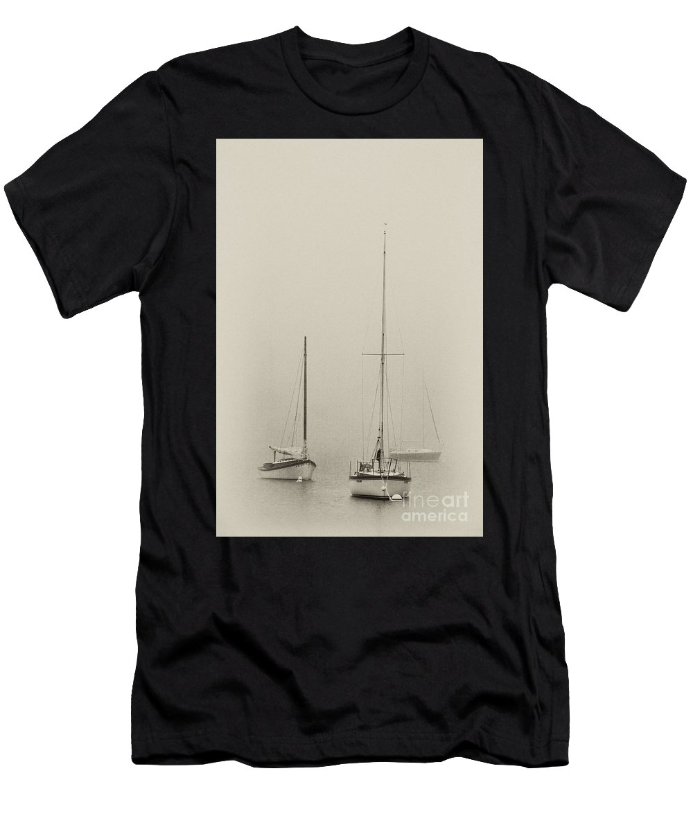 Antique Plate Men's T-Shirt (Athletic Fit) featuring the photograph Grand Marais - Fs000060-bw by Daniel Dempster
