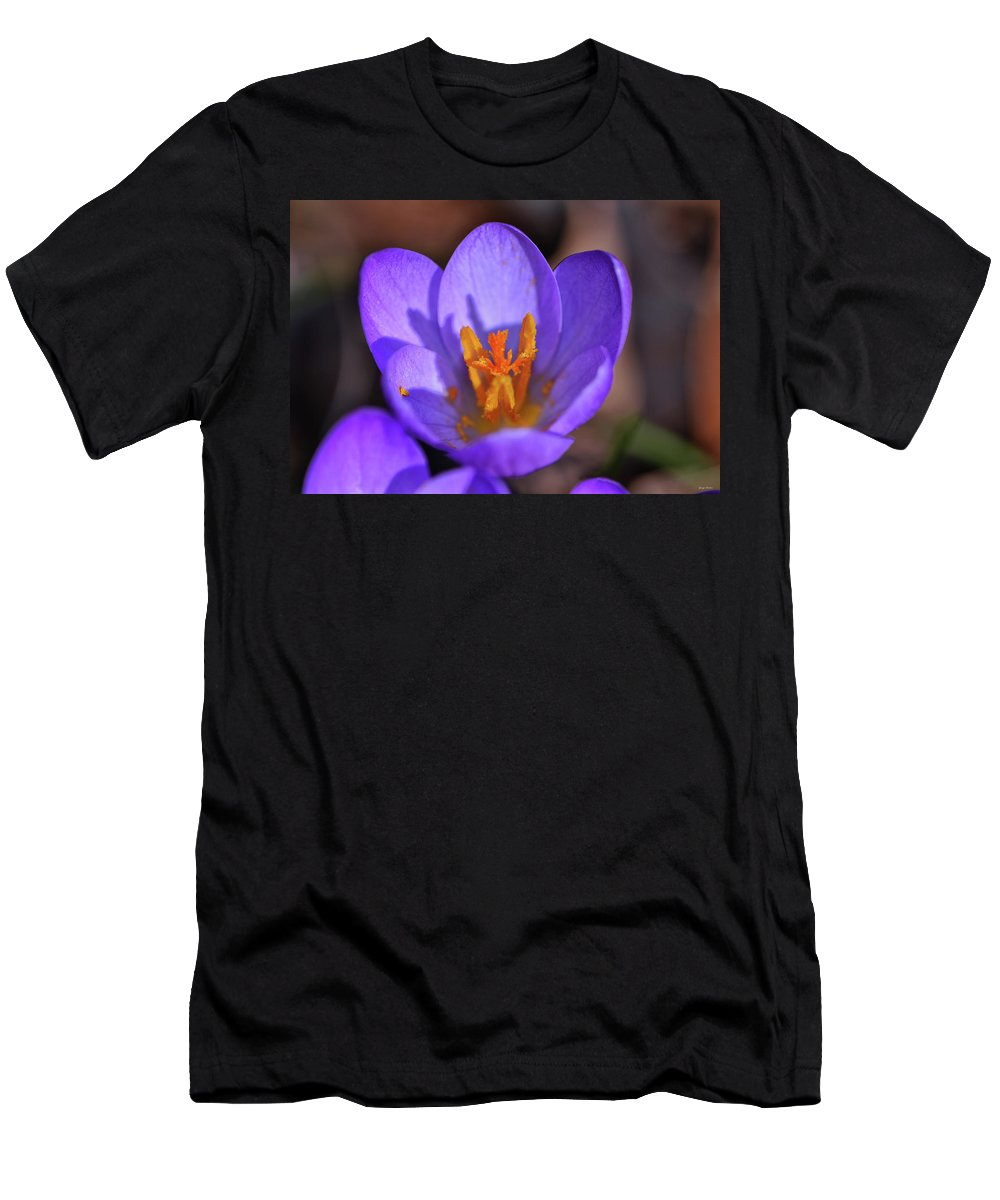 Flower. Macro Men's T-Shirt (Athletic Fit) featuring the photograph Grand Opening At The Garden 005 by George Bostian