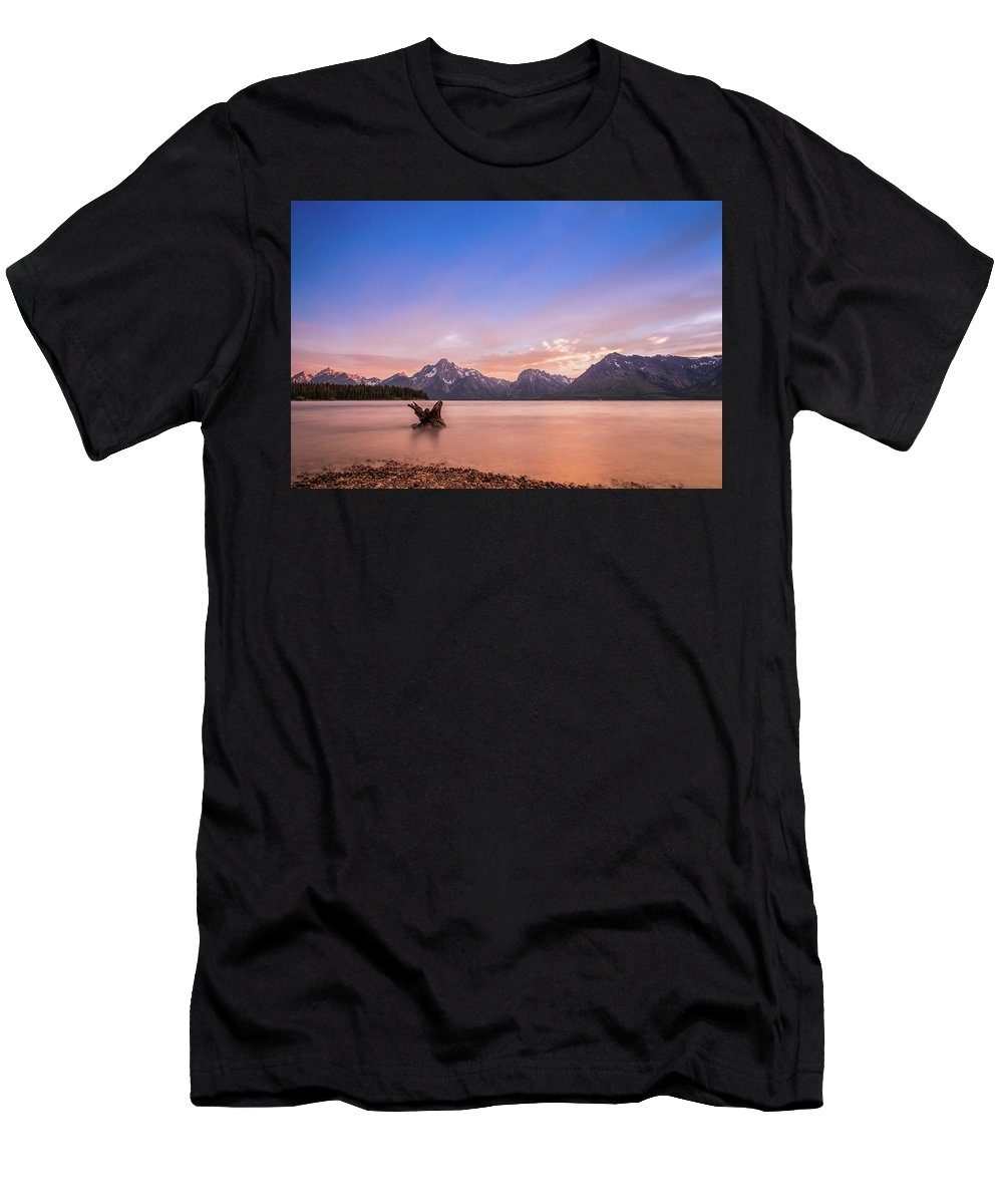Grand Teton Men's T-Shirt (Athletic Fit) featuring the photograph Grand Teton National Park by Carlos Cano