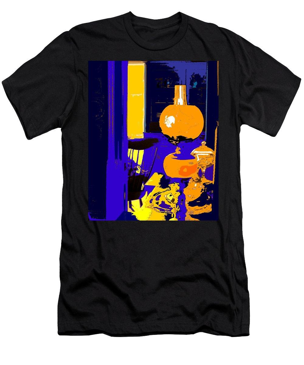 Oil Lamp Men's T-Shirt (Athletic Fit) featuring the photograph Grandma by Ian MacDonald