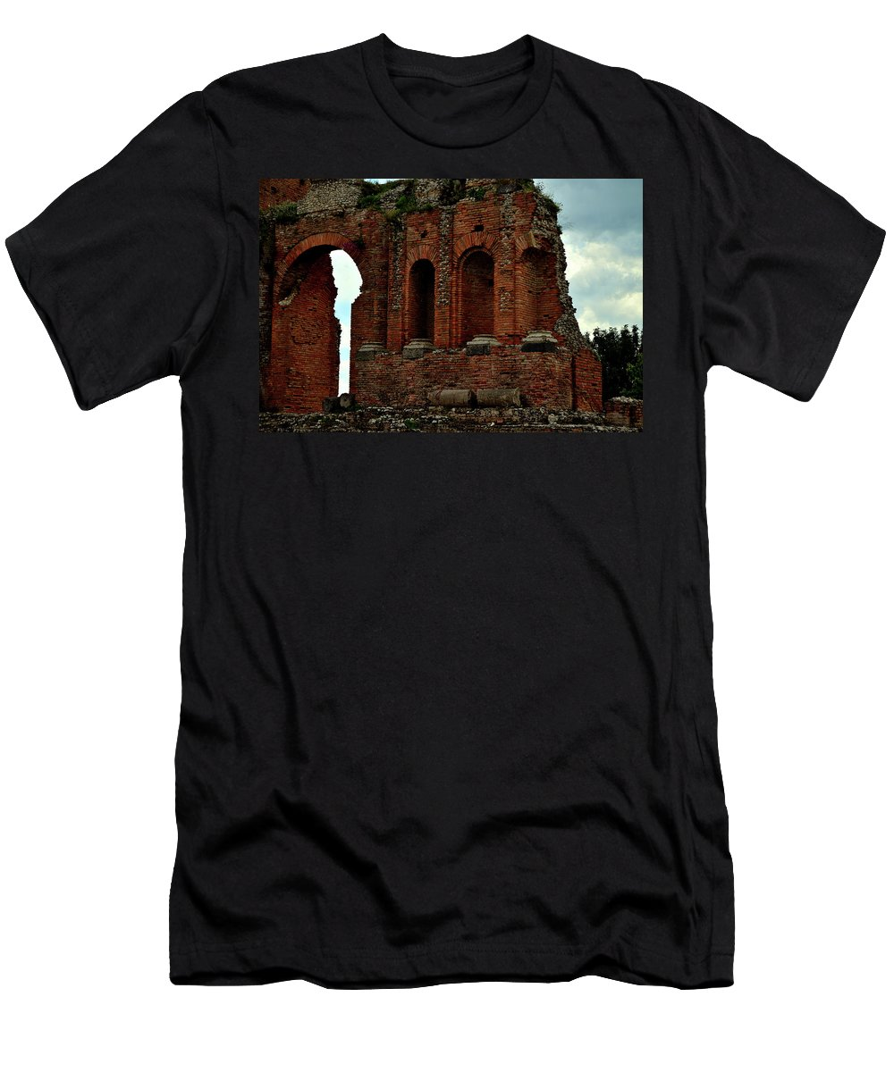 Grand Men's T-Shirt (Athletic Fit) featuring the photograph Grand Roman Remains by Richard Ortolano