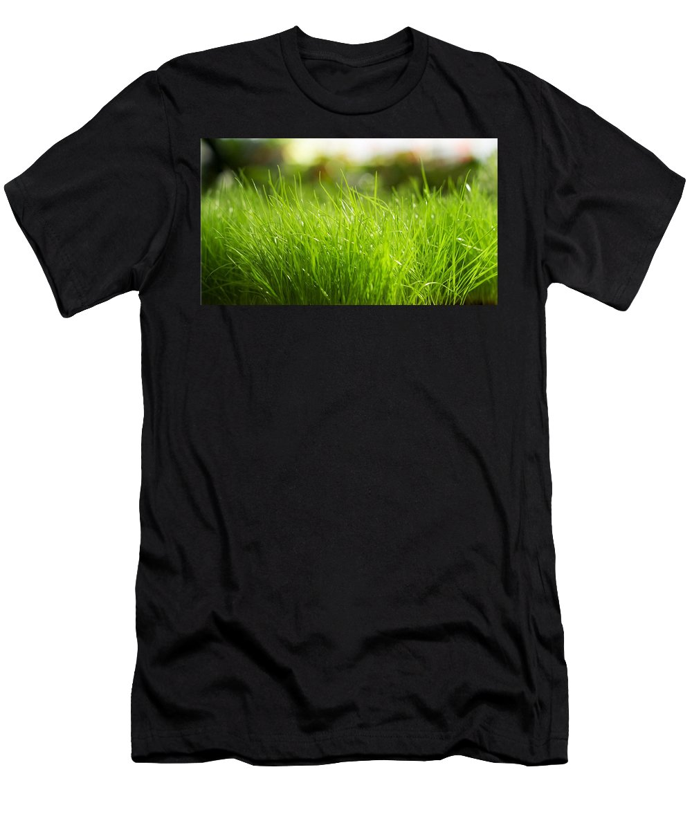 Grass Men's T-Shirt (Athletic Fit) featuring the digital art Grass by Dorothy Binder