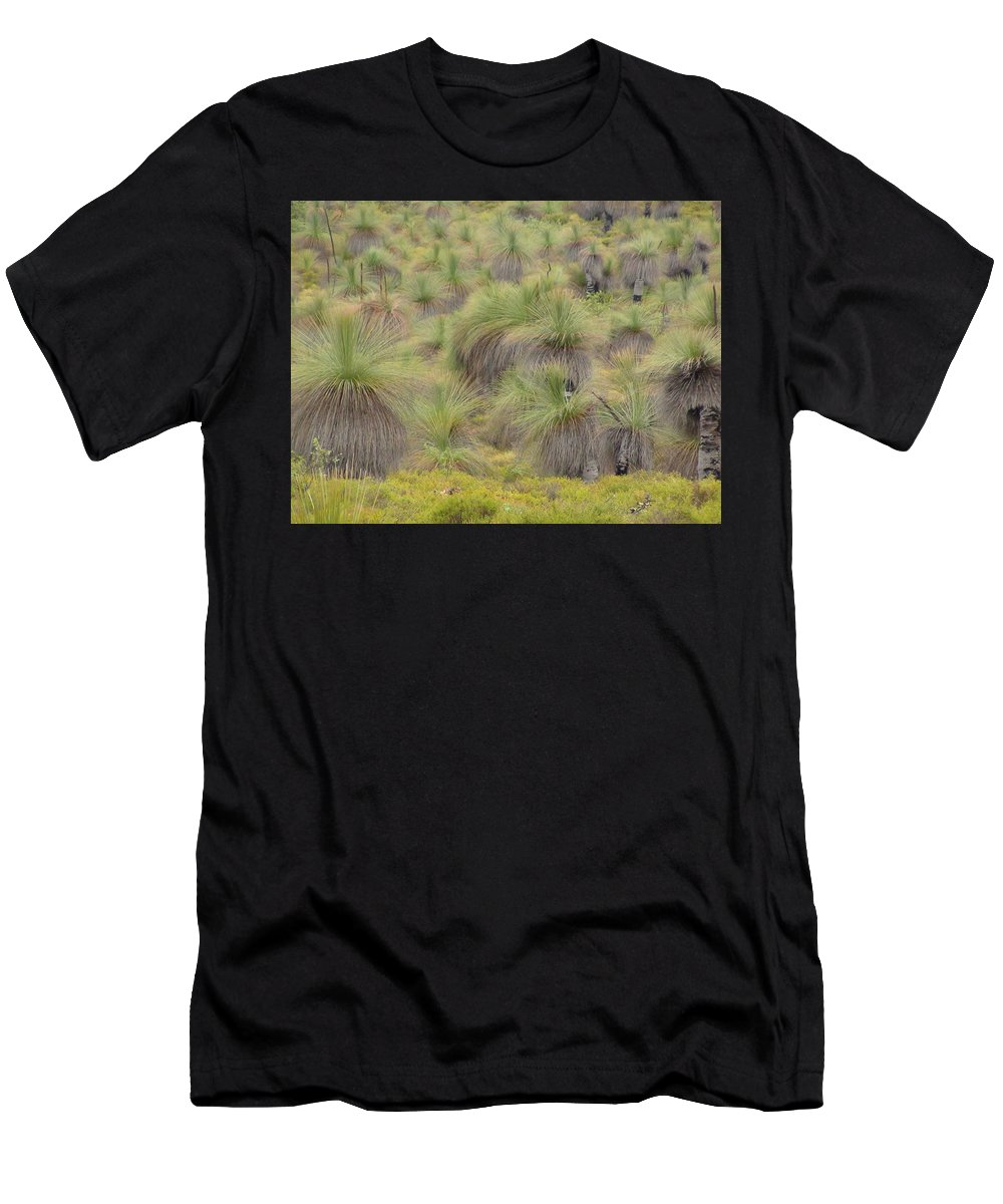 Landscape Men's T-Shirt (Athletic Fit) featuring the photograph Grass Tree by Ruby Kok