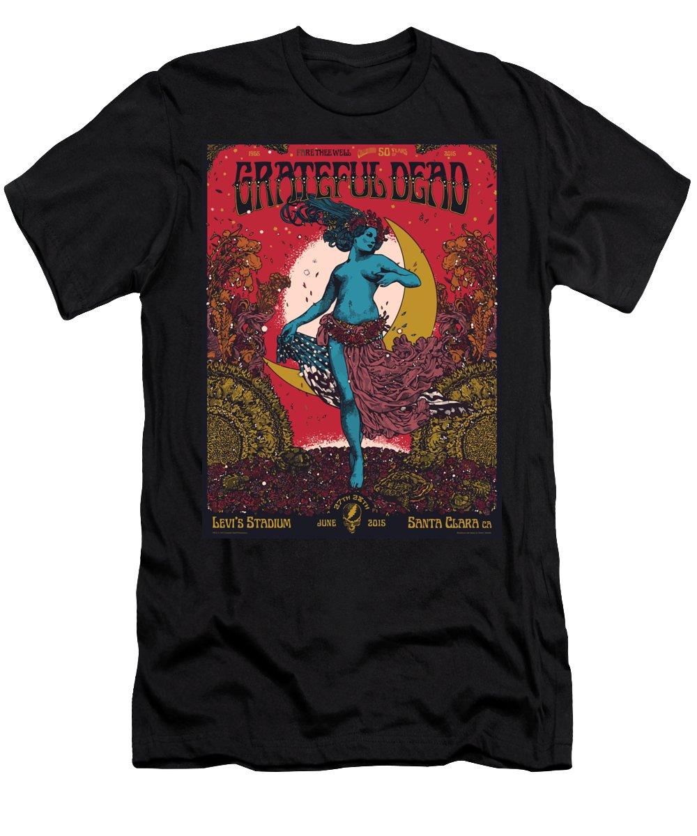 Grateful Dead Men's T-Shirt (Athletic Fit) featuring the digital art Grateful Dead Levi's Stadium Santa Clara Ca by The Saint