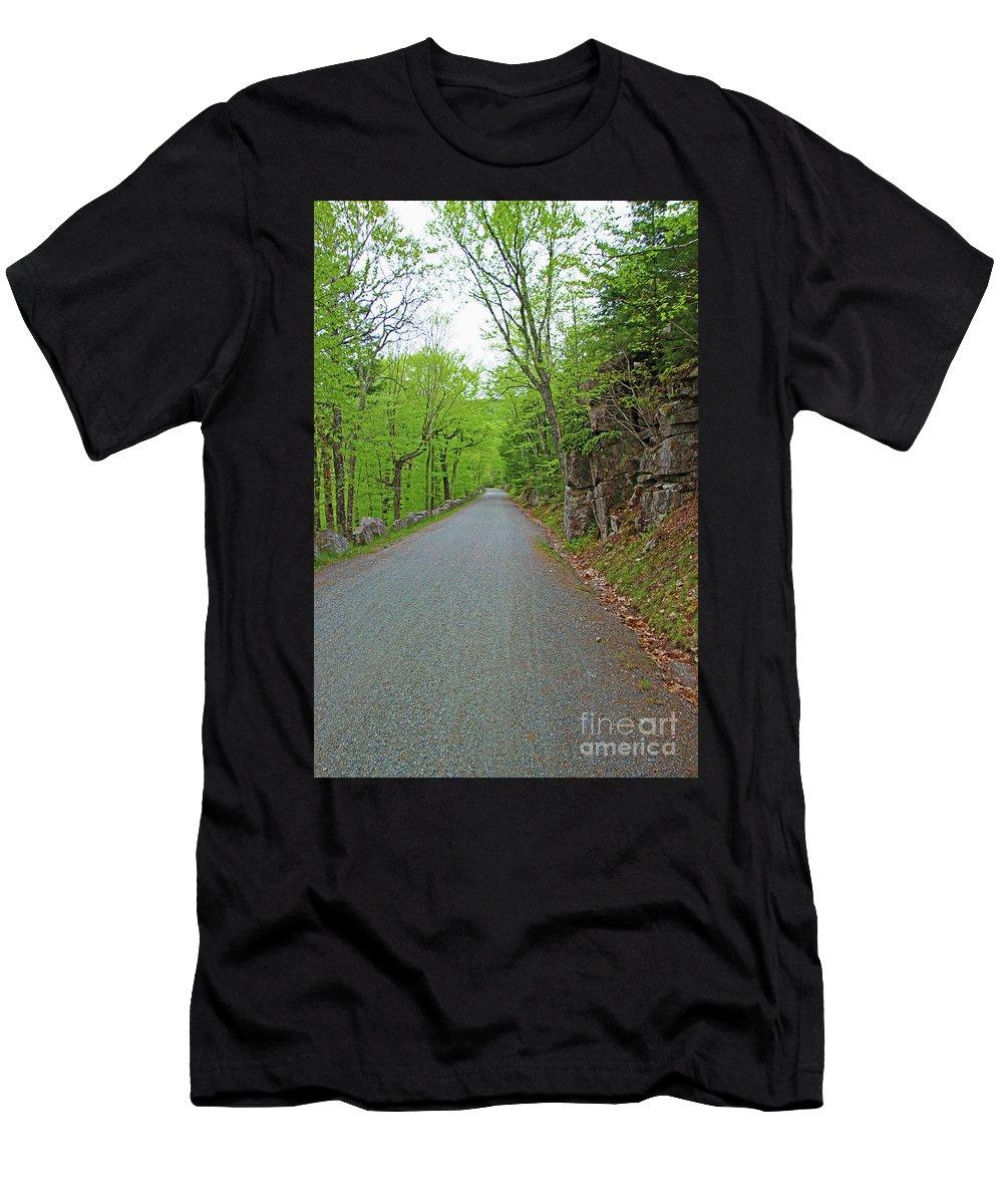 Landscape Men's T-Shirt (Athletic Fit) featuring the photograph Gravel Paths by Nicole Engelhardt