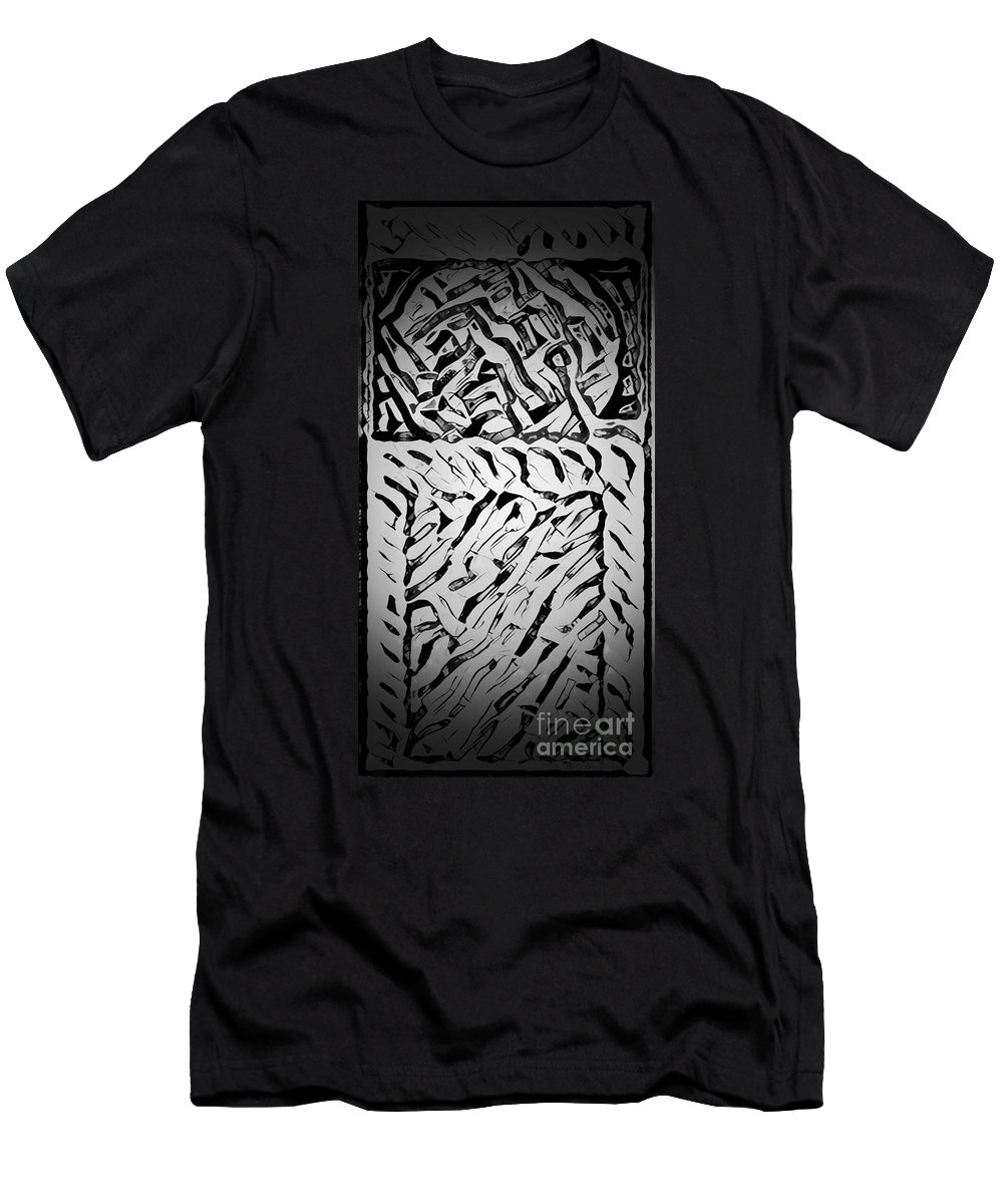 Abstract Men's T-Shirt (Athletic Fit) featuring the photograph Gray Mind Thinking by Alwyn Glasgow