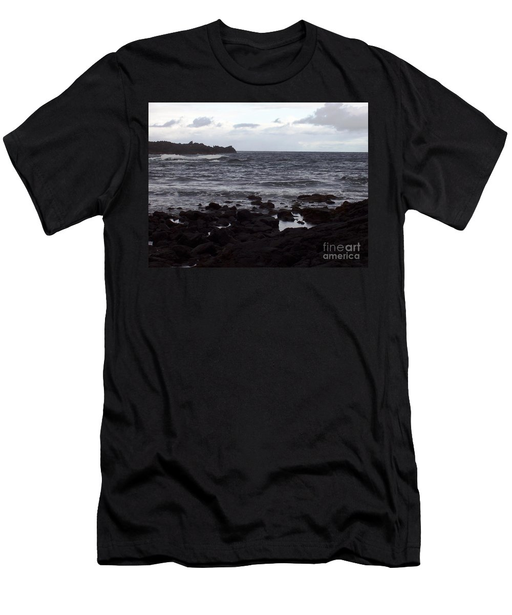 Water Men's T-Shirt (Athletic Fit) featuring the photograph Grayscale by Deborah Crew-Johnson
