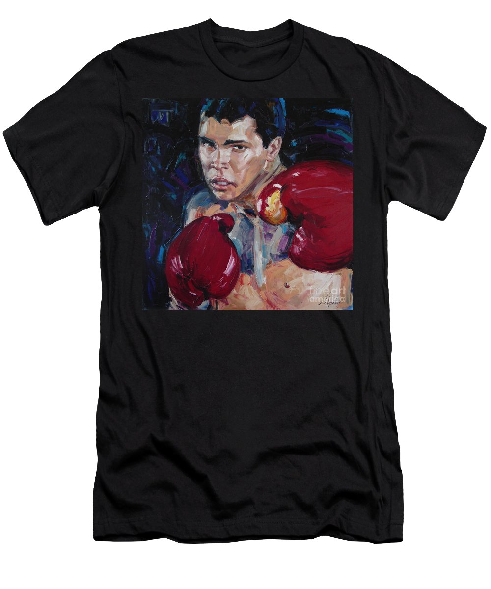 Figurative Men's T-Shirt (Athletic Fit) featuring the painting Great Ali by Sergey Ignatenko