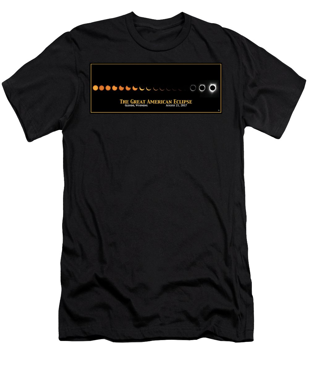 Eclipse Men's T-Shirt (Athletic Fit) featuring the photograph Great American Eclipse 2 by John Meader