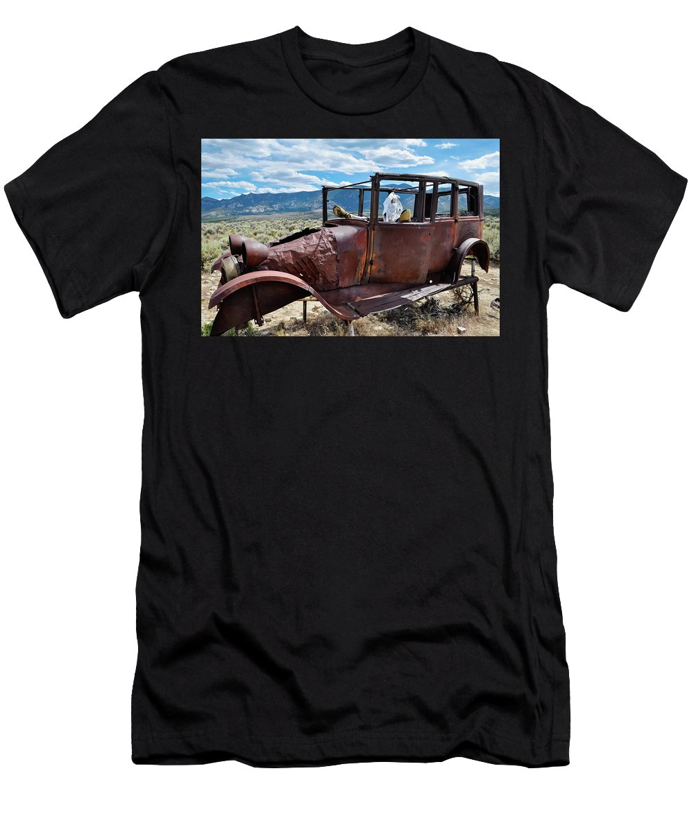 Great Basin National Park Men's T-Shirt (Athletic Fit) featuring the photograph Great Basin Jalopy by Kyle Hanson