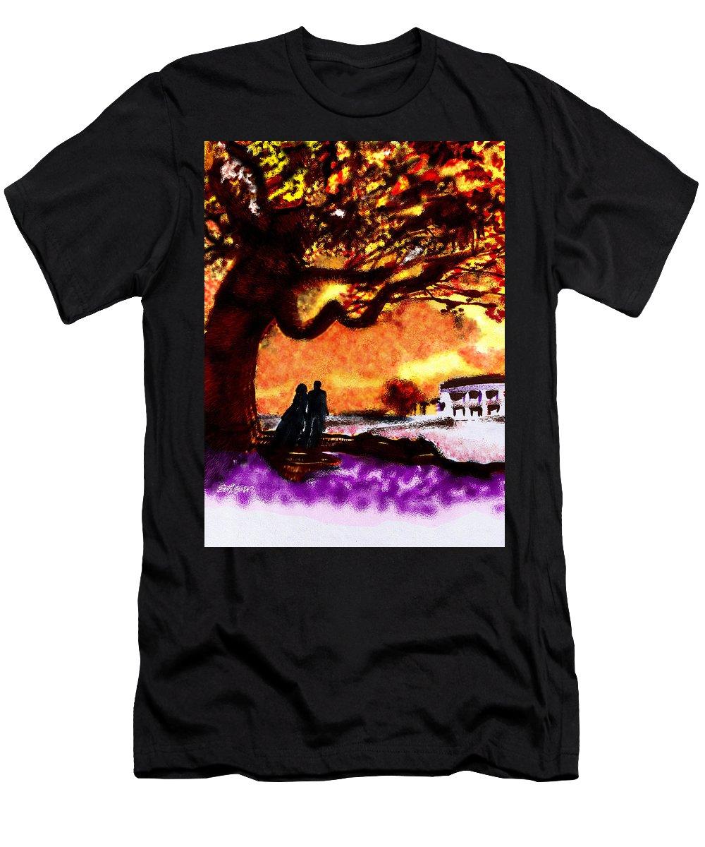 Great Oak Of Tara Men's T-Shirt (Athletic Fit) featuring the digital art Great Oak Of Tara by Seth Weaver