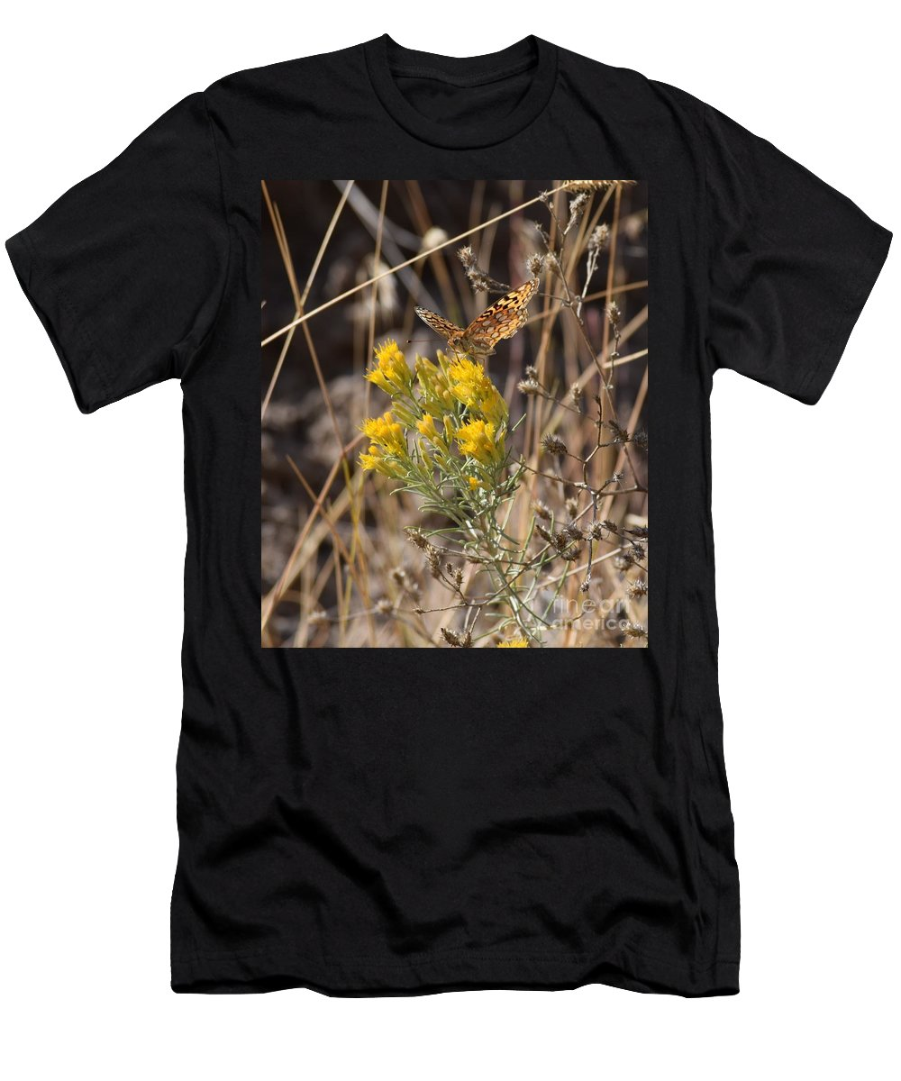 Butterflies Men's T-Shirt (Athletic Fit) featuring the photograph Great Spangled Fritillary 3 by LKB Art and Photography