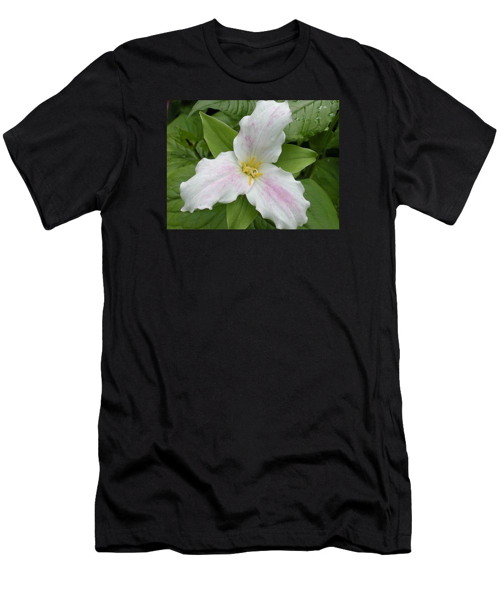 Trillium Men's T-Shirt (Athletic Fit) featuring the photograph Great White Trillium by Nelson Strong