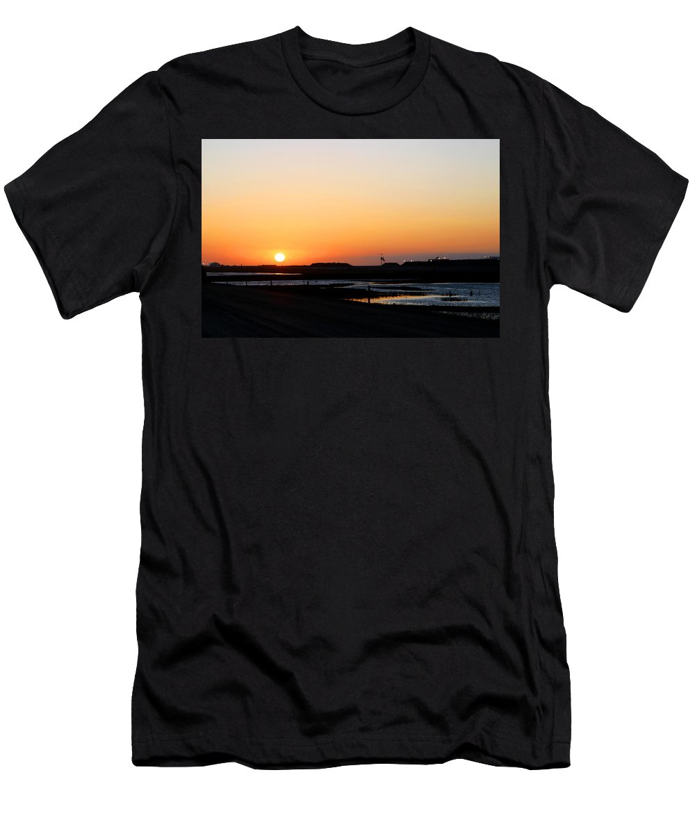 Landscape Men's T-Shirt (Athletic Fit) featuring the photograph Greater Prudhoe Bay Sunrise by Anthony Jones