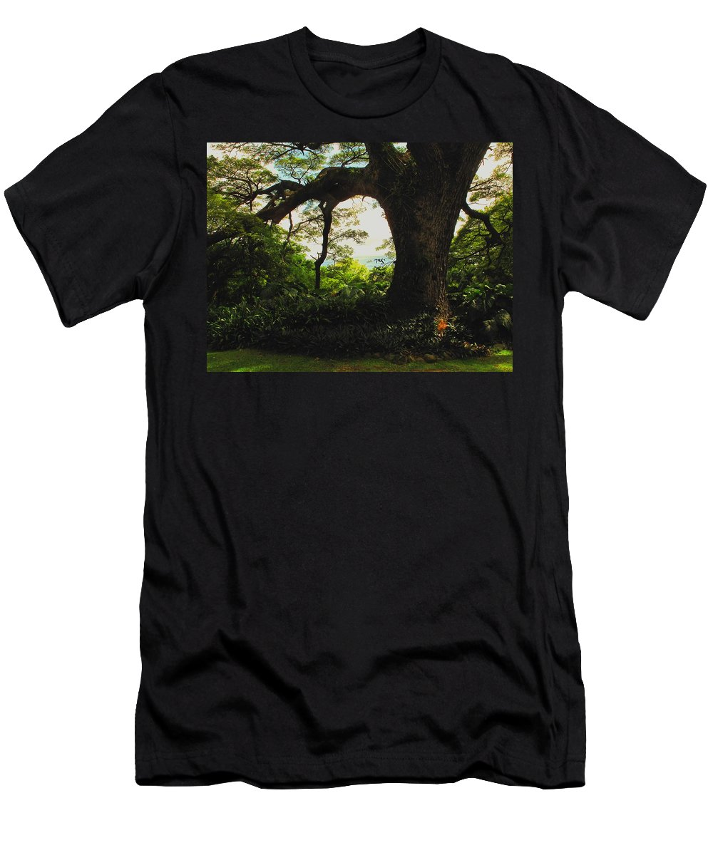Tropical Men's T-Shirt (Athletic Fit) featuring the photograph Green Giant by Ian MacDonald