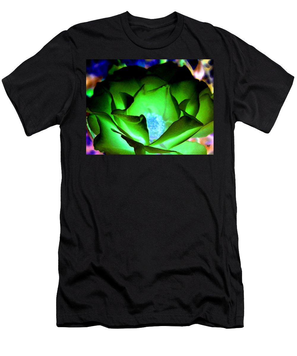 Rose Men's T-Shirt (Athletic Fit) featuring the digital art Green Glow by Will Borden