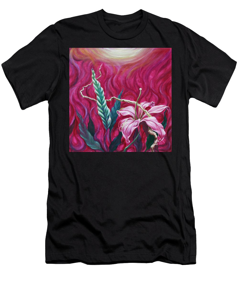 Men's T-Shirt (Athletic Fit) featuring the painting Green Leaf by Jennifer McDuffie