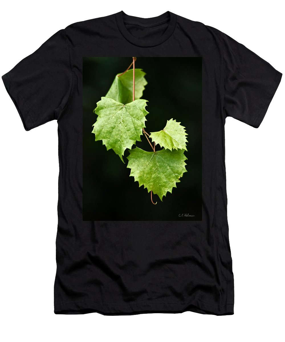 Flora Men's T-Shirt (Athletic Fit) featuring the photograph Green Leaves by Christopher Holmes