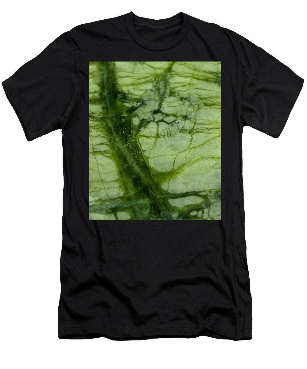Light And Dark Green Marble With Veining Men's T-Shirt (Athletic Fit) featuring the photograph Green Marble by The Quarry