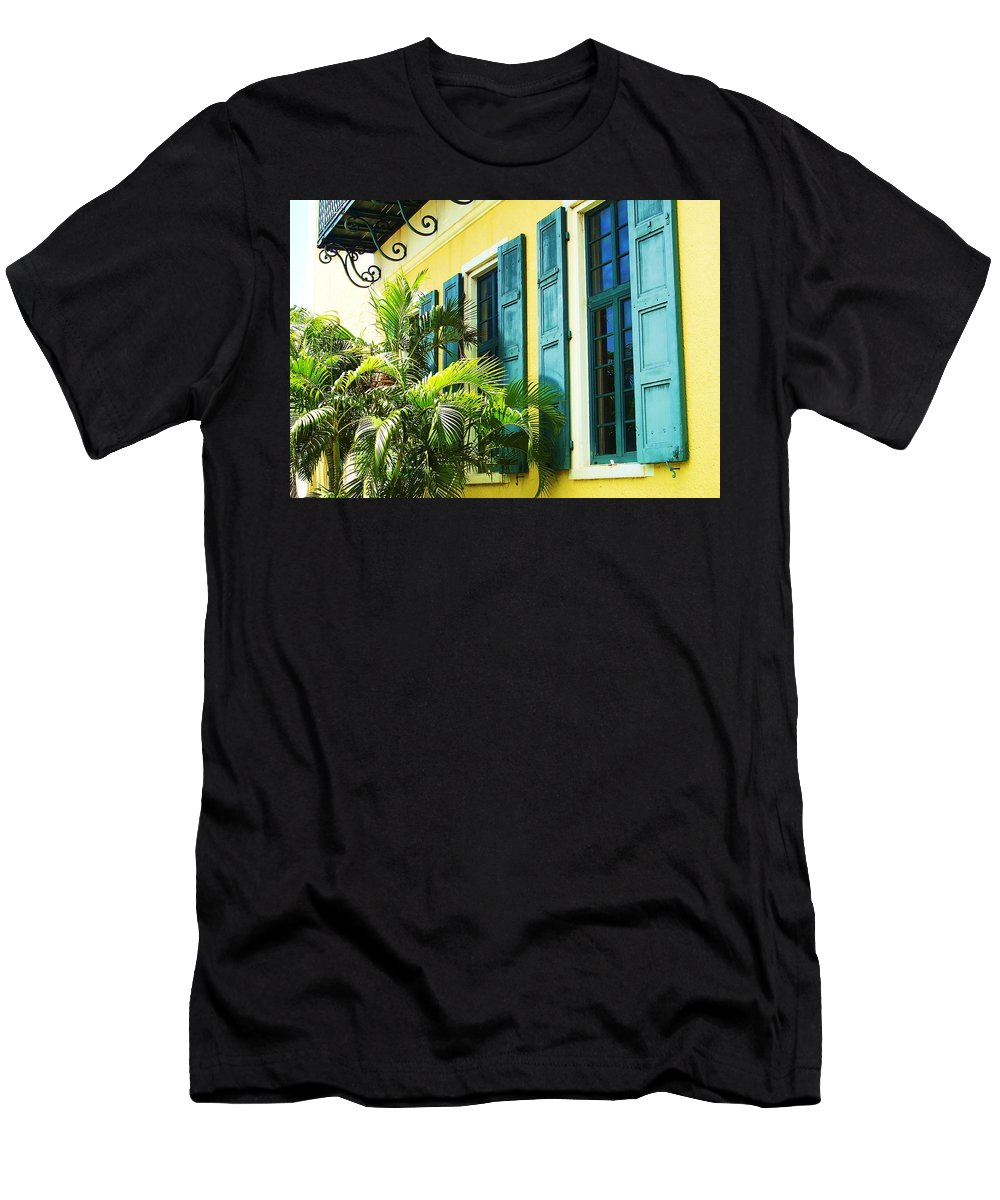 Architecture T-Shirt featuring the photograph Green Shutters by Debbi Granruth