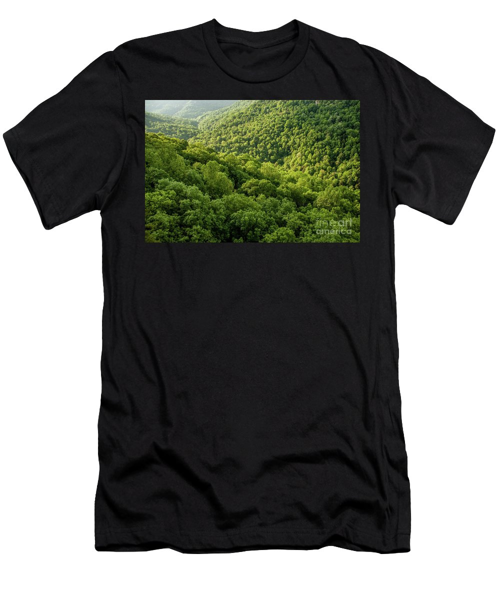 Fiery Gizzard Gulf Men's T-Shirt (Athletic Fit) featuring the photograph Green Valley by Bernd Billmayer